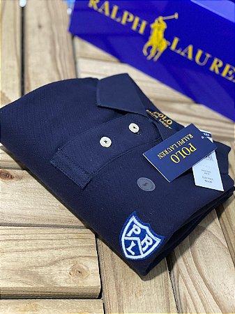 Camisa Polo Ralph Lauren Custom-Fit Shield Azul marinho