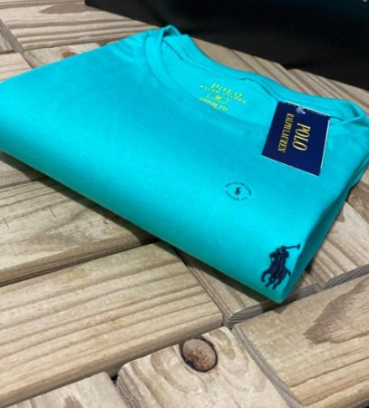 Camiseta Ralph Lauren Basic Custom-Fit Verde