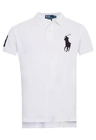 Camisa Polo Ralph Lauren Custom-Fit Big Pony Branca