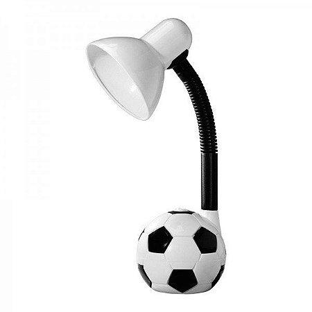 Luminária de Mesa Taschibra TLM 55 Kids Bola de Futebol Branca Bivolt