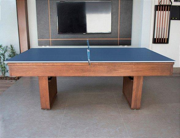 Mesa de Bilhar Versátil 2P Vintage com Tampo de Ping Pong