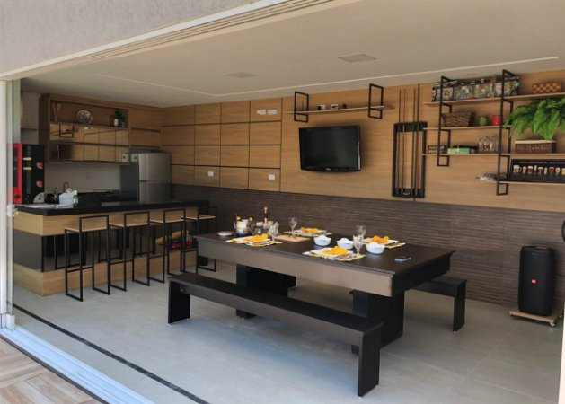 Mesa de Bilhar Versátil 2P TX com Tampo de Jantar e 2 Bancos