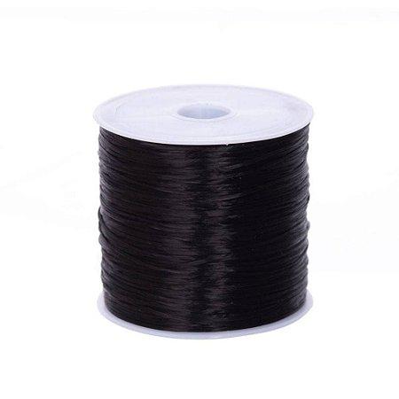 Fio de Silicone Mega Hair - Rolo 50 metros - Preto