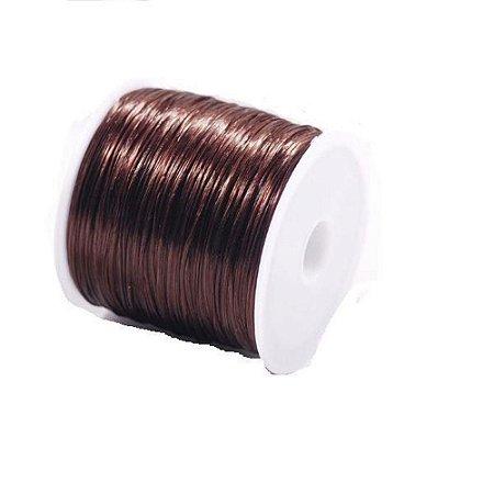 Fio de Silicone Mega Hair - Rolo 50 metros - Marrom