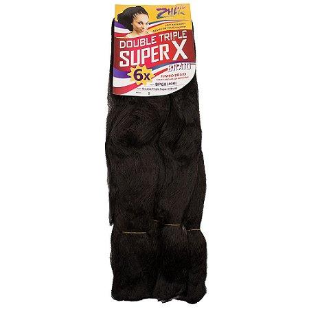 Kanekalon Jumbo Tranças Braid Super 6x 400-fibra Especial - Castanho Escuro