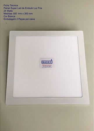 DUPLICADO - Painel Super Led de Embutir Luz Fria 24 Watts ( Quadrada )