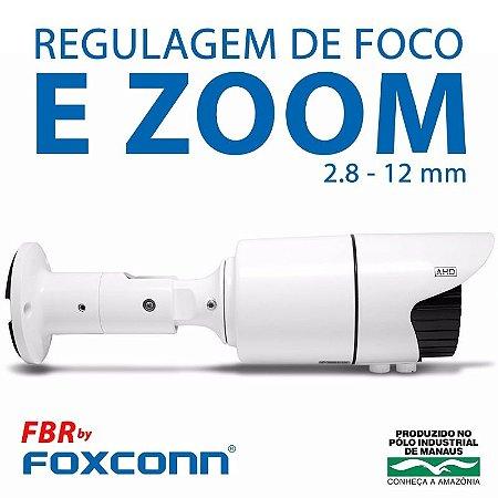 Câmera FBR Focusbras Varifocal com Zoom AHD FA-MBV1M Alta Definição (1.0MP   720p   2.8mm~12mm   Metal)