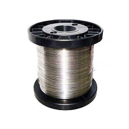 Fio de Aço Inox para Cerca Elétrica 0,45mm - 390 Metros