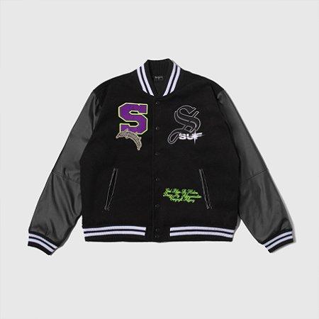 Jacket Sufgang Varsity College Black