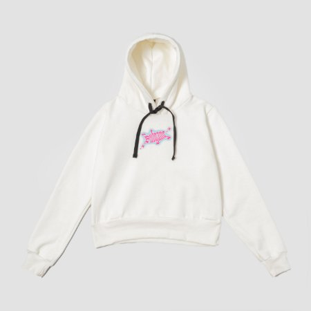 Sufbabys Hoodie Cropped Stripper Off-White