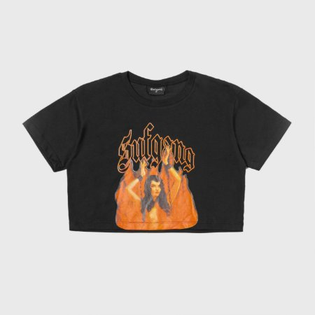 Sufbabys Cropped Fire Black