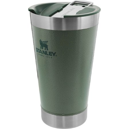 Copo Térmico Stanley De Cerveja Com Tampa Verde 473ml
