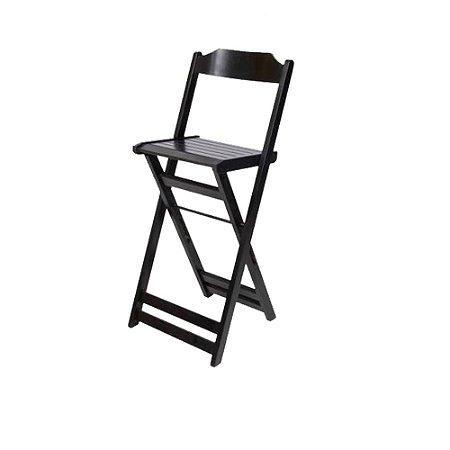 Cadeira Bistro Premium Imbuia - Preto Silk - Unidade