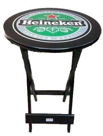 Mesa Fimap Bristo Imbuia Silk Heineken sem Cadeiras