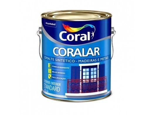 Tinta Esmalte Coralar Branco Brilhante 3,6L