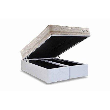 CONJUNTO: BOX COM BAÚ + COLCHÃO SCOTLAND MOLAS MAXSPRING HERVAL QUEEN 158X198
