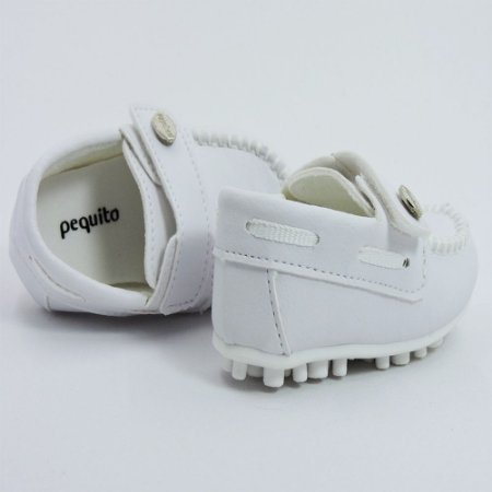 Mocassim Infantil Menino Sapato Batizado Branco