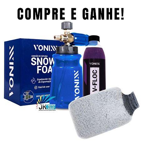 PROMOÇÃO SNOW FOAM VONIXX - COMPRE E GANHE UM V-FLOC 500ML E UMA LUVA DE MICROFIBRA