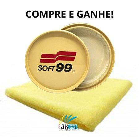 COMPRE E GANHE! NA COMPRA DE UMA CERA DE CARNAÚBA 100G SOFT99 GANHE UMA MICROFIBRA CORTE LASER 40X40