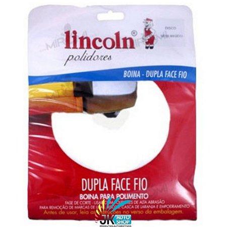 BOINA DUPLA FACE FIO BRANCA FLEXÍVEL 8″ BRANCA – LINCOLN