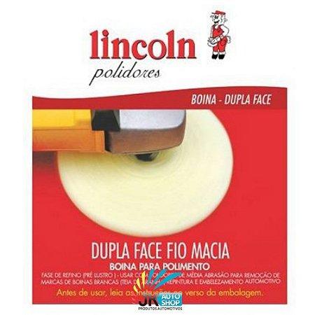 BOINA DUPLA FACE FIO AMARELA  FLEXÍVEL 8″ – LINCOLN