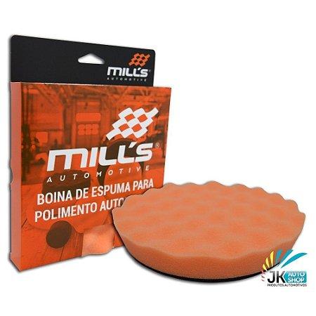 "BOINA DE ESPUMA LARANJA ONDULADA 6"" - MILLS"