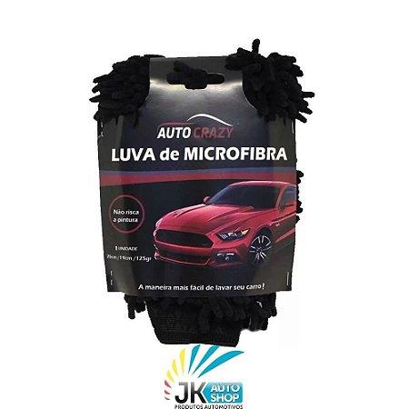 LUVA DE MICROFIBRA PRETA PARA LAVAGEM - AUTO CRAZY