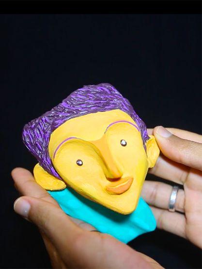 Escultura - Sorrindo para vida