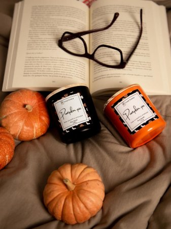 Vela aromática Pumpkin Pie - Edição Halloween