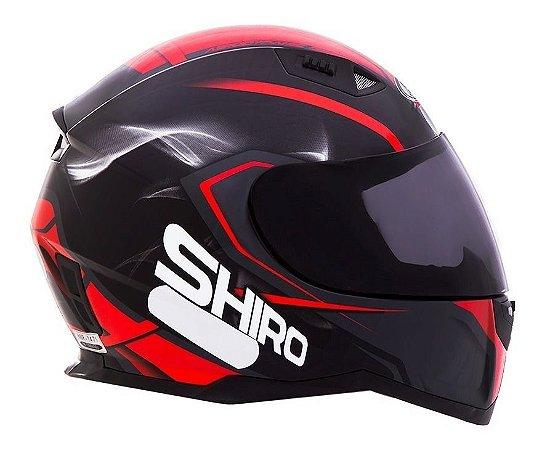 Capacete SHIRO SH881 - Preto/Vermeho