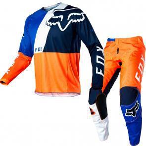 Conjunto Calça + Camisa FOX 180 LOVL Special Edition 2020 - Laranja/Azul