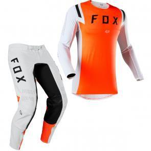 Conjunto Calça + Camisa FOX FLEXAIR - Laranja/Branco