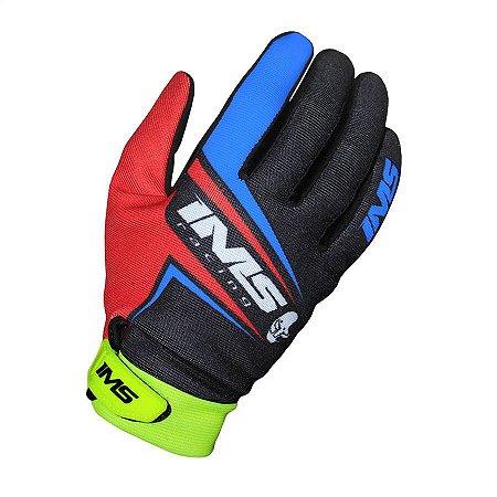 Luvas IMS FLEX - Azul/Vermelho/Verde