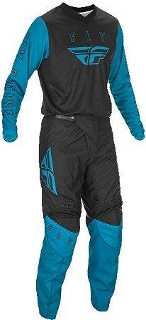 Conjunto Calça + Camisa FLY F16 2021 - Azul/Branco