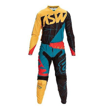 Conjunto Calça + Camisa ASW Image Dart - Preto/Amarelo
