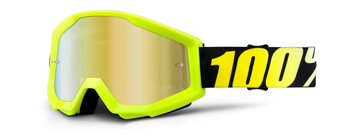 Óculos 100% STRATA Espelhado - Fluor