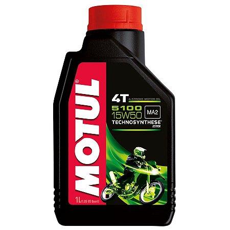 Oleo MOTUL 5100 15W50 4T Semissintético