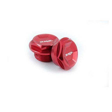 Porca Roda Dianteira BETA Par Vermelha BMS