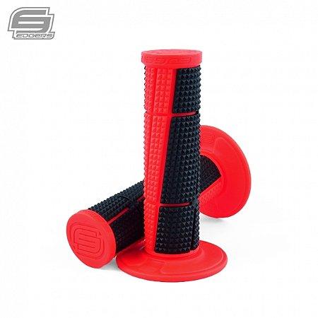 Manopla Edgers Bicomposta A2 Vermelho Neon
