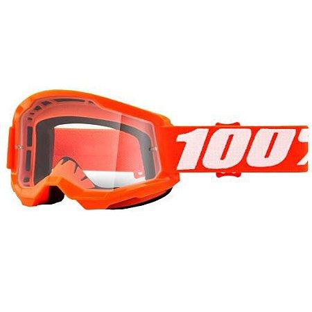 Óculos 100% Strata 2 Orange Lente Transparente