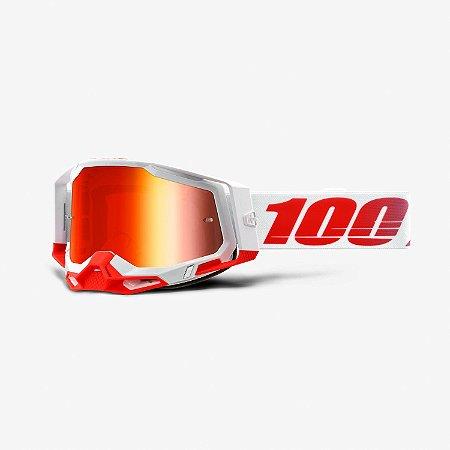 Óculos 100% Racecraft 2 - Branco/Vermelho