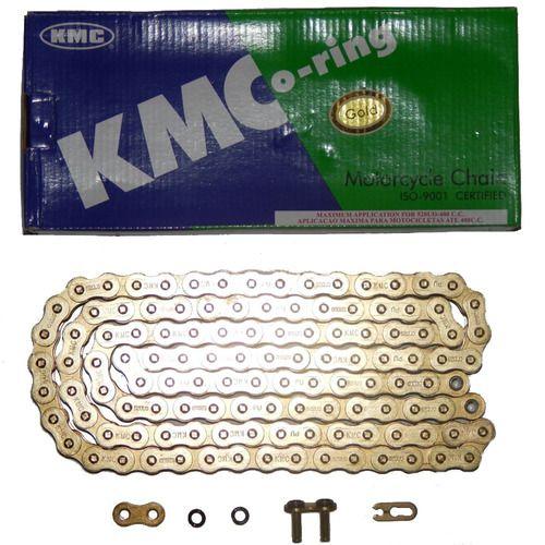 CORRENTE 520X120 C/ RETENTOR DOURADA KMC