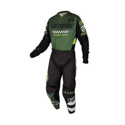 Conjunto Calça + Camisa ASW Image Knight- Verde Militar/Preto/Branco