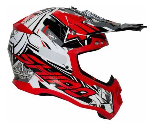 Capacete SHIRO MX-917 - Vermelho