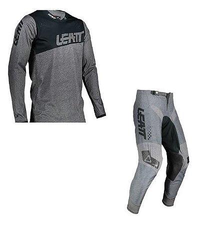 Conjunto Calça+camisa Leatt 4.5 cinza