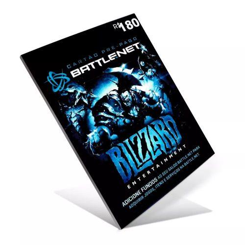 CARTÃO BATTLE.NET R$ 180 REAIS BLIZZARD WORLD OF WARCRAFT
