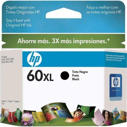 CARTUCHO DE TINTA HP 60 XL PRETO - CC641WB