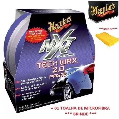 CERA NXT TECH WAX 2.0 MEGUIARS PASTA ROXA +MICROFIBRA G12711