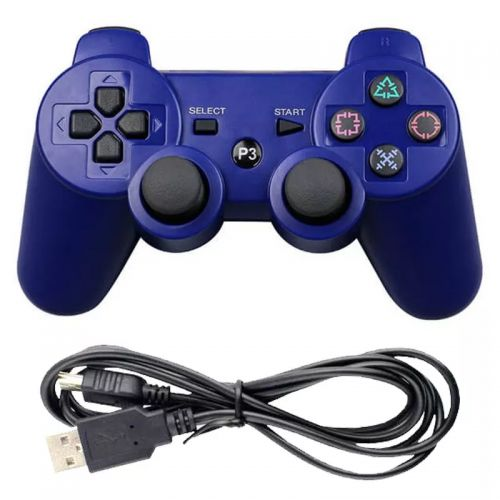 CONTROLE PLAY3 RASPBERRY SEM FIO PS3 COLOR WIRELLES DHJ FUL