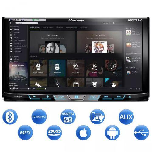 DVD 2 DIN PIONEER AVH-X598TV 7 BLUETOOTH TV DIGITAL USB AUX
